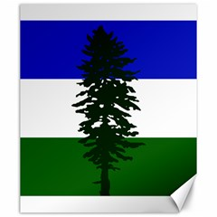 Flag 0f Cascadia Canvas 20  X 24