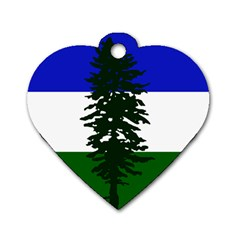 Flag 0f Cascadia Dog Tag Heart (one Side)