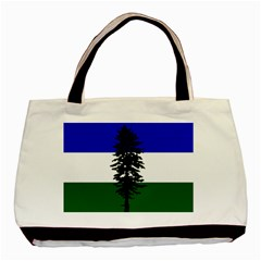 Flag 0f Cascadia Basic Tote Bag (two Sides)