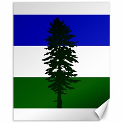 Flag 0f Cascadia Canvas 11  X 14