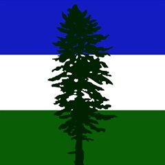 Flag 0f Cascadia Magic Photo Cubes