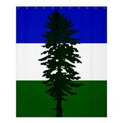 Flag 0f Cascadia Shower Curtain 60  X 72  (medium)