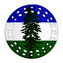 Flag 0f Cascadia Round Filigree Ornament (two Sides)