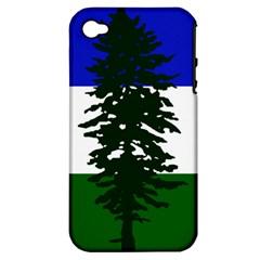 Flag 0f Cascadia Apple Iphone 4/4s Hardshell Case (pc+silicone)