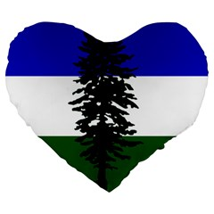 Flag 0f Cascadia Large 19  Premium Heart Shape Cushions