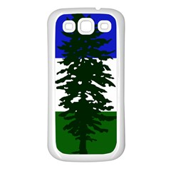 Flag 0f Cascadia Samsung Galaxy S3 Back Case (white)