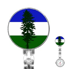 Flag 0f Cascadia Stainless Steel Nurses Watch