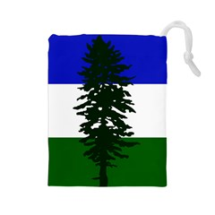 Flag 0f Cascadia Drawstring Pouches (large)