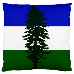 Flag 0f Cascadia Large Flano Cushion Case (one Side)