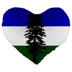 Flag 0f Cascadia Large 19  Premium Flano Heart Shape Cushions