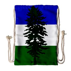 Flag 0f Cascadia Drawstring Bag (large)