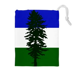 Flag 0f Cascadia Drawstring Pouches (extra Large)