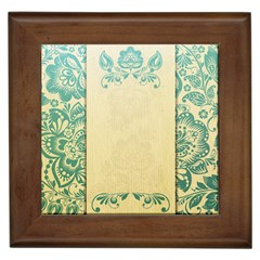 Art Nouveau Green Framed Tiles