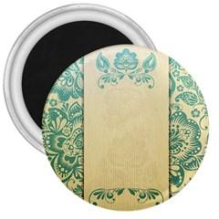 Art Nouveau Green 3  Magnets