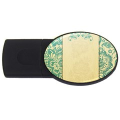 Art Nouveau Green Usb Flash Drive Oval (2 Gb)