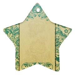Art Nouveau Green Star Ornament (two Sides)