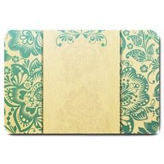 Art Nouveau Green Large Doormat