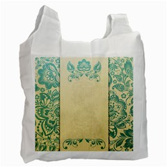 Art Nouveau Green Recycle Bag (two Side)