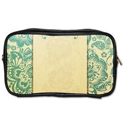 Art Nouveau Green Toiletries Bags 2 Side