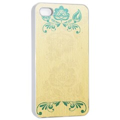 Art Nouveau Green Apple Iphone 4/4s Seamless Case (white)