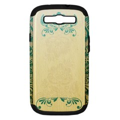 Art Nouveau Green Samsung Galaxy S Iii Hardshell Case (pc+silicone)