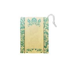 Art Nouveau Green Drawstring Pouches (xs)