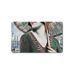 Lady Of Summer 1920 Art Deco Magnet (name Card)