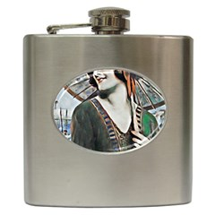 Lady Of Summer 1920 Art Deco Hip Flask (6 Oz)