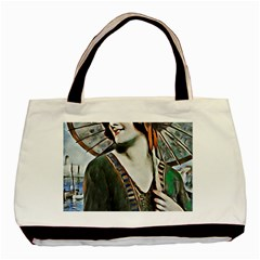 Lady Of Summer 1920 Art Deco Basic Tote Bag (two Sides)