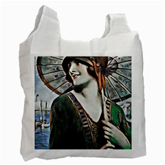 Lady Of Summer 1920 Art Deco Recycle Bag (one Side)