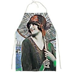 Lady Of Summer 1920 Art Deco Full Print Aprons