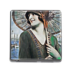 Lady Of Summer 1920 Art Deco Memory Card Reader (square)