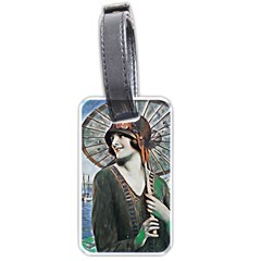 Lady Of Summer 1920 Art Deco Luggage Tags (one Side)