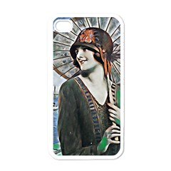 Lady Of Summer 1920 Art Deco Apple Iphone 4 Case (white)