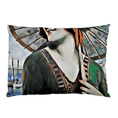 Lady Of Summer 1920 Art Deco Pillow Case (two Sides)