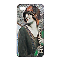 Lady Of Summer 1920 Art Deco Apple Iphone 4/4s Seamless Case (black)