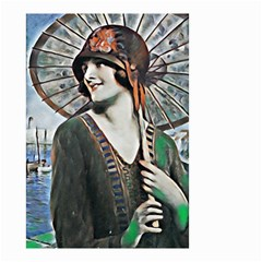 Lady Of Summer 1920 Art Deco Small Garden Flag (two Sides)