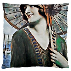 Lady Of Summer 1920 Art Deco Large Cushion Case (two Sides)