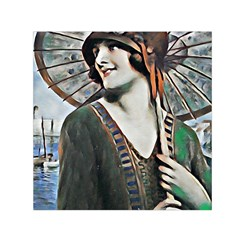 Lady Of Summer 1920 Art Deco Small Satin Scarf (square)