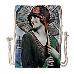 Lady Of Summer 1920 Art Deco Drawstring Bag (large)