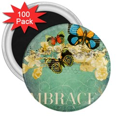 Embrace Shabby Chic Collage 3  Magnets (100 Pack)
