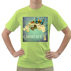 Embrace Shabby Chic Collage Green T Shirt