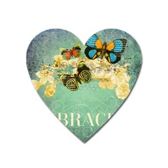 Embrace Shabby Chic Collage Heart Magnet