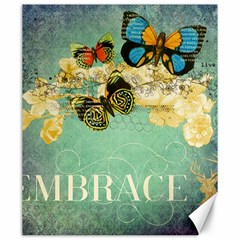 Embrace Shabby Chic Collage Canvas 20  X 24