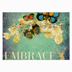 Embrace Shabby Chic Collage Large Glasses Cloth