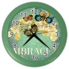 Embrace Shabby Chic Collage Color Wall Clocks