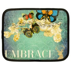 Embrace Shabby Chic Collage Netbook Case (xl)
