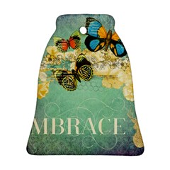 Embrace Shabby Chic Collage Bell Ornament (two Sides)