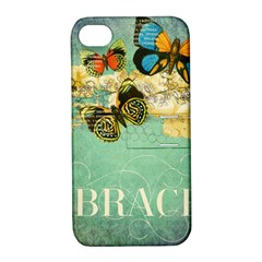 Embrace Shabby Chic Collage Apple Iphone 4/4s Hardshell Case With Stand