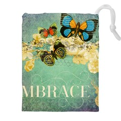 Embrace Shabby Chic Collage Drawstring Pouches (xxl)